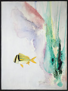 Ted Lownik Porkfish Oil And Acrylic On Canvas Signed