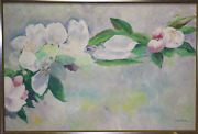 Michael Schreck Orchids Acrylic On Canvas Signed L.r.