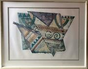 Bill Wheeler Aeolian Harp 2 Collagraph Signed And Numbered In Pencil