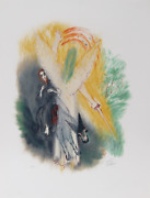 Reuven Rubin, Ix From Visions Of The Bible, Lithograph, Signed And Numbered In P