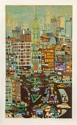 Ralph Fasanella Empire State Building Screenprint Signed And Numbered In Penc