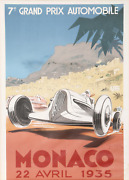 Geo Ham Monaco Lithograph Poster Mounted To Linen