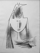 Wifredo Lam Primitiv Gestalt 5501 Lithograph Signed And Numbered In Pencil