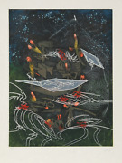 Roberto Matta, Untitled 6 From Hom'mere V - N'ous Portfolio, Etching And Aquatin