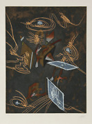 Roberto Matta, Untitled 9 From Hom'mere V - N'ous Portfolio, Etching And Aquatin
