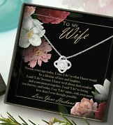 Husband To Wife Necklace 20 Years Unique Romantic 20th Wedding Anniversary Gifts