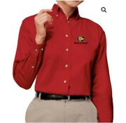 Boars Head Women's Embroidered Twill Shirt Size M Red Brand New