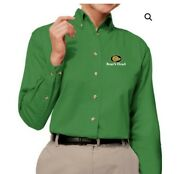 Boars Head Women's Embroidered Twill Shirt Size M Green Brand New