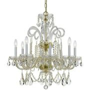 Crystorama Lighting 5008-pb-cl-s Crystal - Eight Light Chandelier In Classic