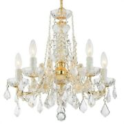Crystorama Lighting 4476-gd-cl-s Maria Theresa - Five Light Mini Chandelier In