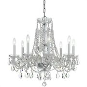 Crystorama Lighting 1138-ch-cl-saq Crystal - Eight Light Chandelier In Classic
