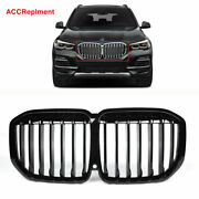 Black For Bmw X7 G07 Front Bumper Grille Grill Single Slat 2019 2020 2021