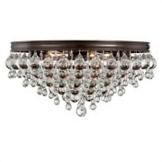 Crystorama Lighting 138-vz Calypso - Six Light Flush Mount In Traditional And