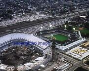 White Sox Old Comiskey Park Aerial Shot W/ New Comiskey Being Built Color 8x10 B