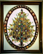 Christmas Tree Cross Collection Framed Jewelry One Of A Kind Art