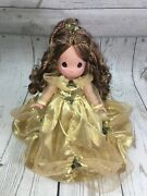 Disney Christmas Belle Precious Moments Doll By Linda Rick Signed