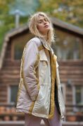 Free People Jacket Coat Alpine Retreat Puffer We The Free Ivory Nude Gold L New