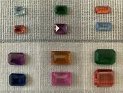 Synthetic Spinels. 366 Unmounted Stones, Assorted Sizes And Colors, All New.