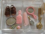 Lot Of 11 Antique Vintage Dollhouse Miniatures Combs Brushes Perfume Bottles ++