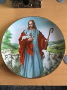 The Lord Is My Sheperd Limited Edition Franlin Mint Heirloom Plate