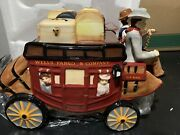 Wells Fargo And Company Stagecoach Wagon Ceramic Collectible Cookie Jar New