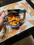 Vint Ceramic Pottery Made In Occupied Japan Man Head Toby Teapot Hatchet Handle