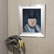 The Penguin Donald Trump Oil Painting, Realism, 14x18 Contemporary Modern Art