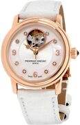 New Frederique Constant Ladies Auto Heart Beat Watch Fc-310hbad2p4 Gold Pvd 34mm