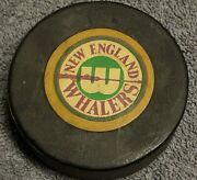 New England Whalers Wha Vintage Official Game Puck Hartford Scarce Old Beauty