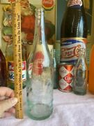 M54 1900's Large Coca Cola Syrup Glass Bottle Pottsville Pa Soda Fountain