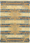 Mid Century Blue Camel And Beige Indian Dhurrie Rug Bb3923