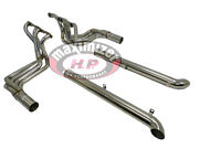 Maximizer Exhaust Header And Side Mount Pipe For 63-82 Corvette Stingray Sbc