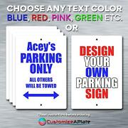 Aceyand039s Parking Only All Others Will Be Towed Custom Novelty Aluminum Sign