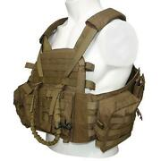 Lqarmy Military Security Tactical Molle Plate Carrier Assault Vest W/pouch Tan