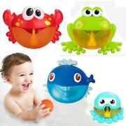 Baby Bathroom Toy For Children Bubble Machine Crabs Frog Music Kids Bath Toys