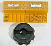 Toolmex, 6-954-040, 4 Indexable Face Mill W/ Apkt 1604pdr Carbide Inserts C568