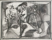 William Brice 1921 - 2008 Graphite And Ink Drawing On Paper Abstract Work