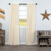 Vhc Brands Farmhouse 84x40 Panel Pair Natural Rod Pocket Tobacco Window Curtains