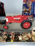 Vintage Farm Tractor Toy Farmall 350 Wide Front Ertl Red Still Has Og Paint