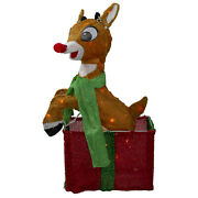 24 Rudolph The Red-nosed Reindeer Gift Box Pre-lit Christmas Outdoor Yard Dandeacuteco