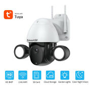 3mp Wireless Security Camera Outdoor Wifi Ptz Dome System 2 Way Audio Pan Camera
