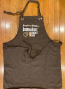 Boars Head Apron Bourbon Ridge Cooking Adjustable Brown Collectable New