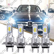 For Mercedes-benz C250 C300 C350 - 4x Combo Headlight High And Low Beam Led Bulbs