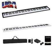 88 Keys Digital Home Piano Built-in Dual Speakers Rechargeable Battery Bluetooth