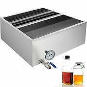 2'x2' Maple Syrup Pan Divided Sap Evaporator W/ Thermometer Stainless Steel 18ga