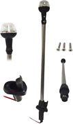 Pactrade Marine Boat Led All-around Stern Pole Light With Base 25 L