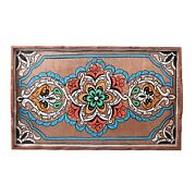Hand Painted Decorative Tray, Moroccan Rustic Wood Color Tray, Serving Tray Wood