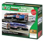 Kato Usa N Scale F40ph And Gallery Virginia Railway Express Set