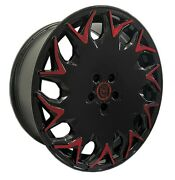 4 Gv06 20 Inch Black Red Rims Fits Ford Transit Connect Wagon 2010-2018