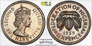 1959 Nigeria 6 Pence Pcgs Pr64cam Proof Only 1 Graded Higher Striking Luster Mr